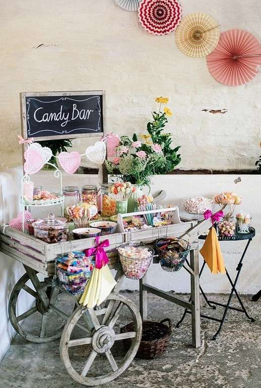 Carrito vintage candy bar